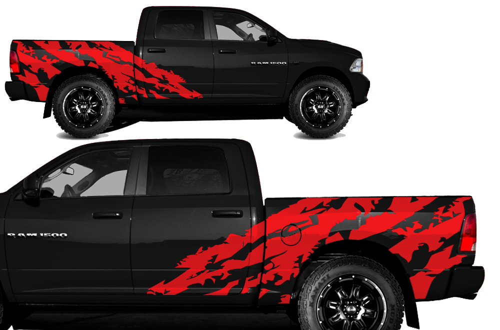 Dodge Ram Vinyl Graphics For Bed Fender - Custom vinyl stickers for trucks