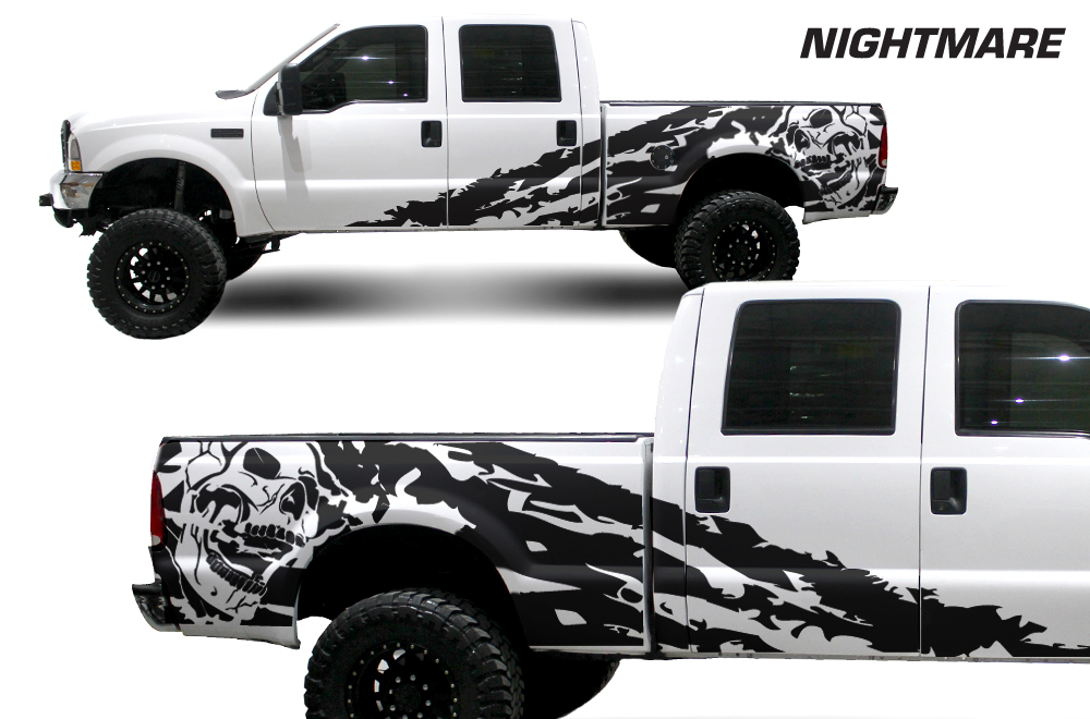 Ford F  Vinyl Graphics For Bed Fender - F250 decals
