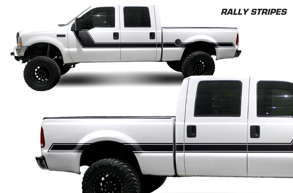 Ford F Vinyl Graphics For Bed Fender - Truck bed decals customford f vinyl graphics for bed fender