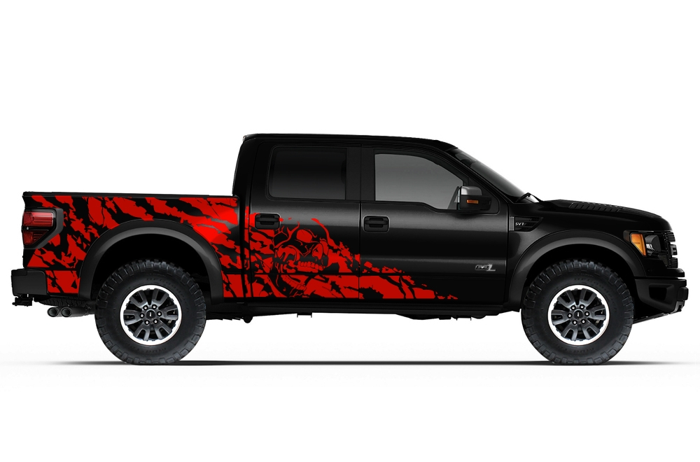 Ford raptor 2010 2014 vinyl graphics for bed fender