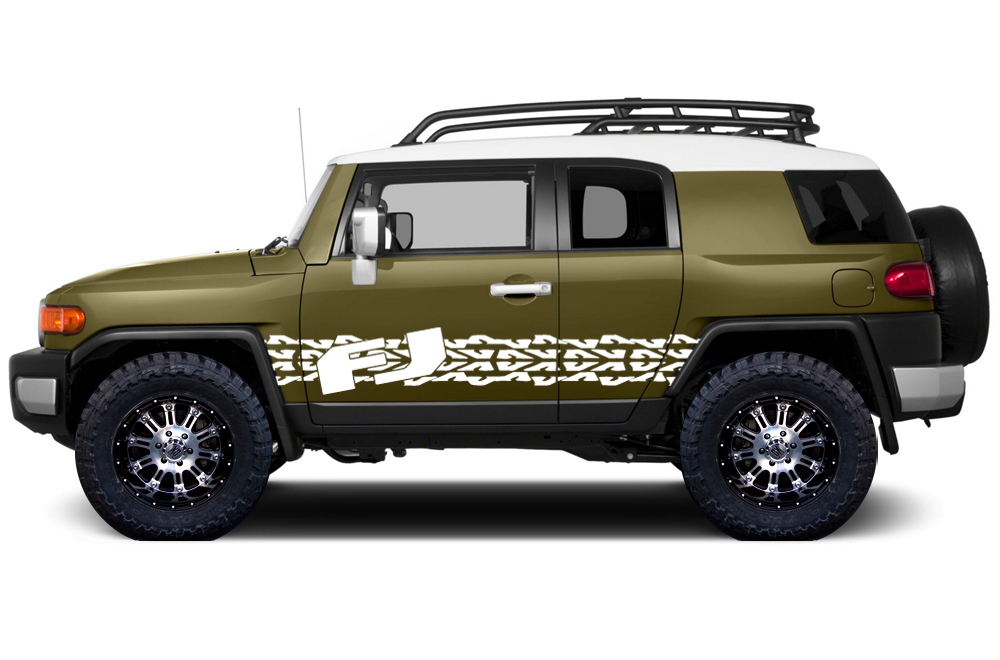Toyota Fj Cruiser 2007 2014 Custom Side Stripe Decal Truck