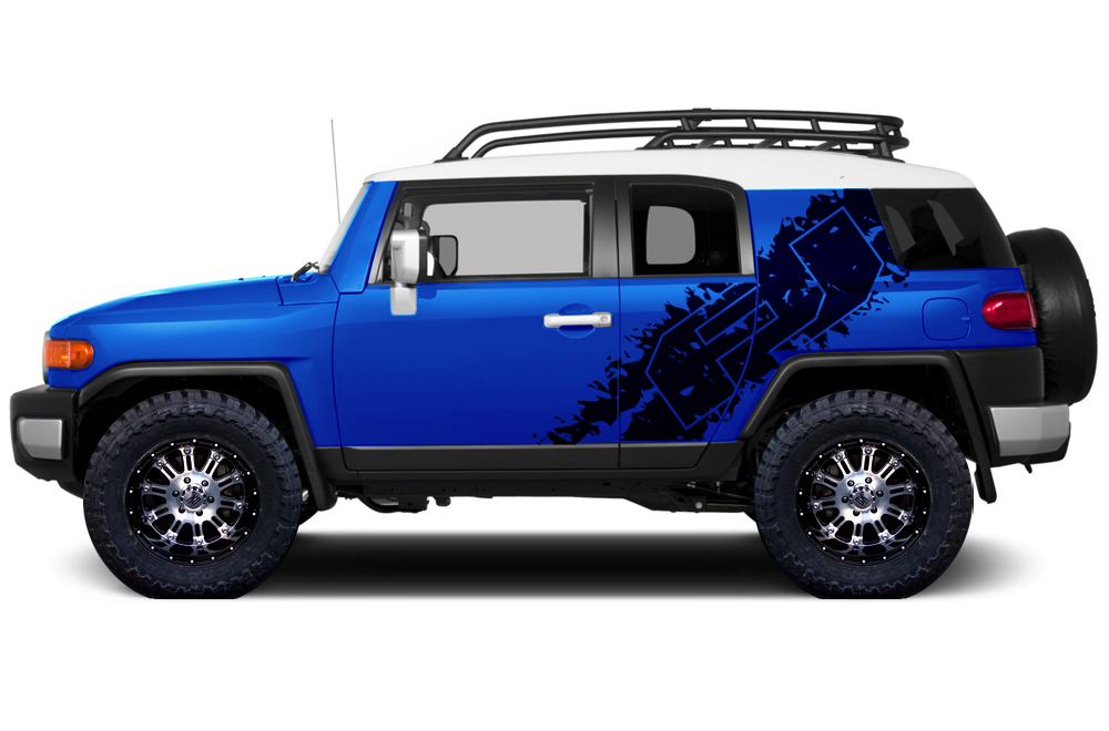 Toyota FJ Cruiser  Vinyl Graphics For Both Of Sides Vehicle - Truck decal graphics