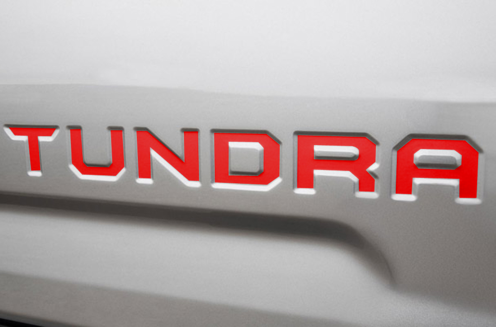 Toyota Tundra Vinyl Decals For Tailgate Inlays