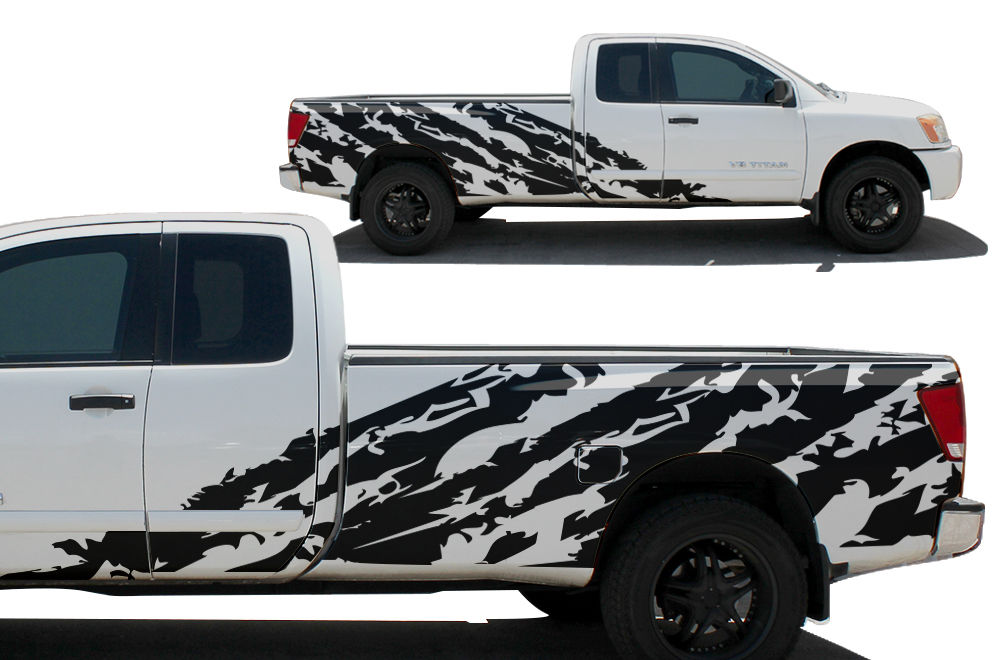 Nissan Titan Vinyl Graphics For Bed Fender - Truck bed decals customford fvinyl graphics for bed fender
