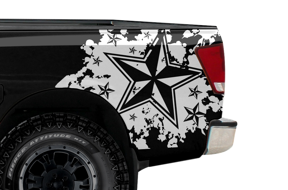 Nissan Titan 04 13 Vinyl Graphics For Bed Fender