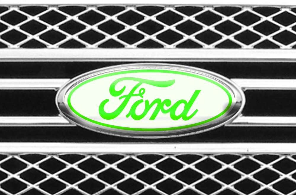 Ford F Vinyl Emblem Graphics For Front And Back Of Vehicle - Front window stickers for car