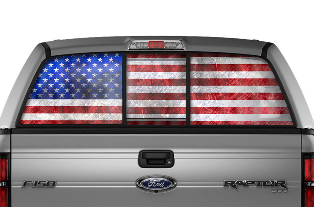 Large Ford F Raptor Window Vision Decal Graphic Usa America