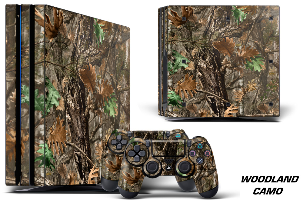 Large Ps Pro Graphics Skin Decal Woodland Camo