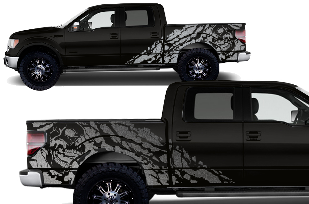 Ford F Vinyl Graphics For Bed Fender - Truck bed decals customford fvinyl graphics for bed fender