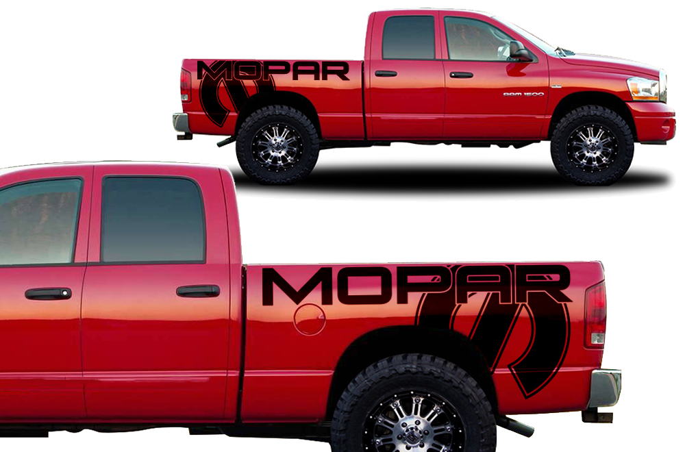 What Is Mopar >> Dodge Ram Truck 2002-2008 Custom Vinyl Decal - MOPAR