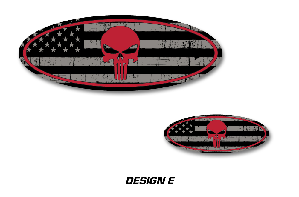 Ford F-150 RAPTOR Punisher Colored Oval Emblem Overlay Decals (2009 ...