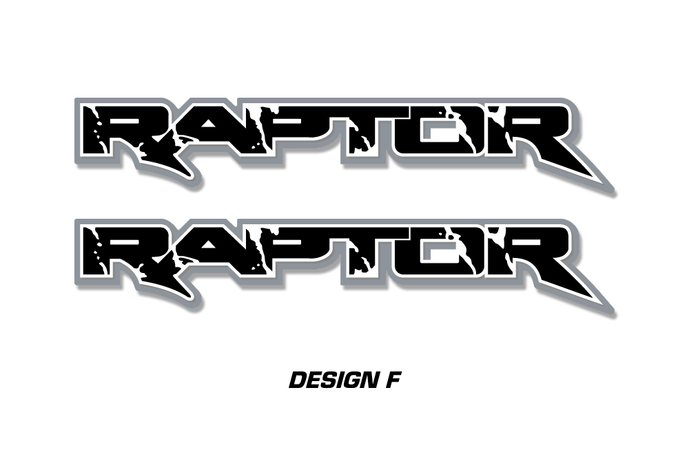 Raptor Truck Bed Graphic Decal Sticker Set For Ford F150