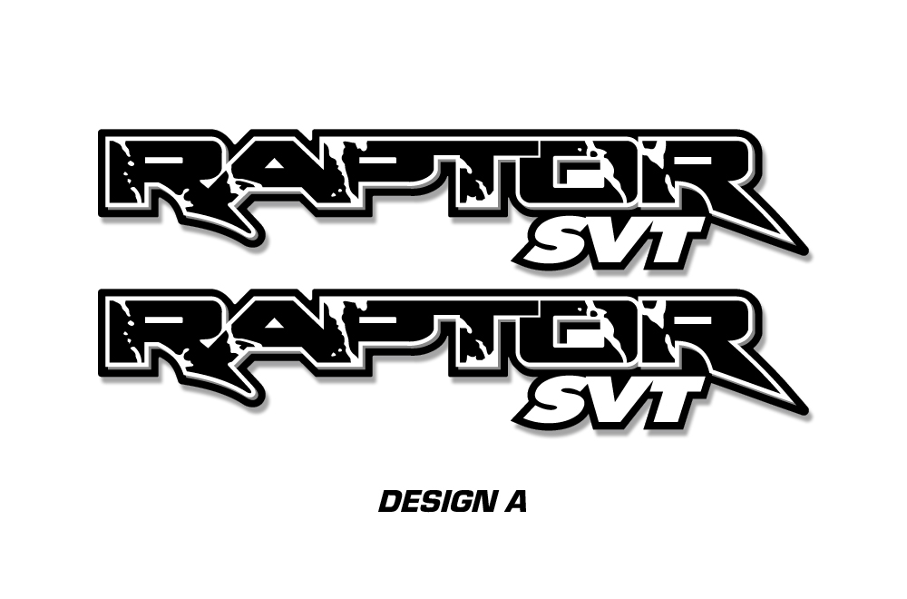 raptor svt truck bed graphic decal sticker set for ford