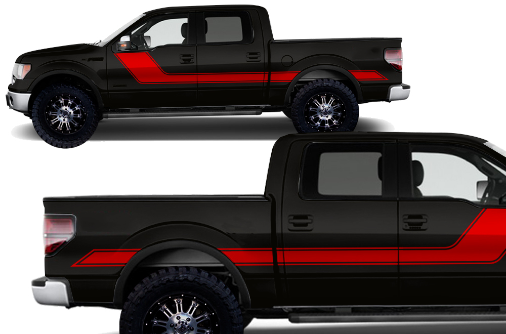 Ford Raptor Matte Green >> Ford F-150 2009-2014 Vinyl Graphics for Side of Truck