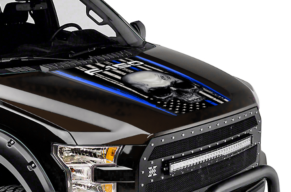 Ford F150 Truck Full Hood Wrap Graphic Sticker Decal 2015