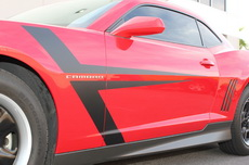 Chevrolet Camaro T-Stripes Vinyl Graphics Decal BLACK (2010-2015)