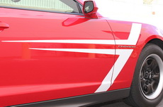 Chevrolet Camaro T-Stripes Vinyl Graphics Decal WHITE (2010-2015)