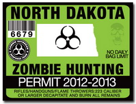 Zombie hunting permit license choose from all u s states for North dakota fishing license