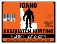 Sasquatch hunting permit license choose from all u s for Idaho fishing license
