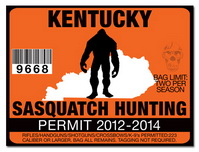 Sasquatch hunting permit license choose from all u s for Ky fishing license