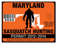 Sasquatch hunting permit license choose from all u s for Maryland non resident fishing license