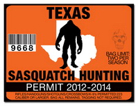 Sasquatch hunting permit license choose from all u s for Texas hunting and fishing license