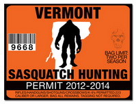 Sasquatch hunting permit license choose from all u s for Vermont fishing license