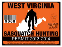 Sasquatch hunting permit license choose from all u s for Wv fishing license online