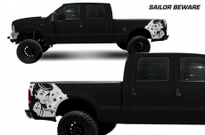 Ford F-250Truck 1999-2006 Quarter Side Custom Vinyl Decal - SAILOR BEWARE