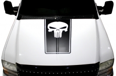 Ford F-250Truck 1999-2006 Punisher Hood Stripe Custom Vinyl Decal