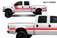 Ford F-250Truck 1999-2006 Rally Side Stripe Custom Vinyl Decal