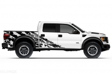 Ford Raptor Truck 2010-2014 Half Side Custom Vinyl Decal - SHRED