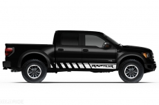 Ford Raptor Truck 2010-2014 Side Rocker Panel Stripes Custom Vinyl Decal - RAPTOR