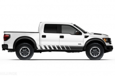 Ford Raptor Truck 2010-2014 Side Rocker Panel Stripes Custom Vinyl Decal - STROBE