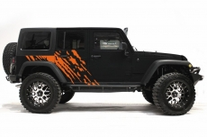 Jeep Wrangler Rubicon Custom Vinyl Graphics Decal Wrap Kit 2007-2016 - SPLASH