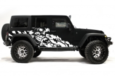 Jeep Wrangler Rubicon Custom Vinyl Graphics Decal Wrap Kit 2007-2016 - NIGHTMARE