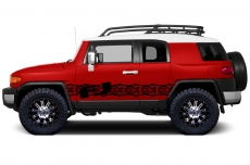 Toyota FJ Cruiser 2007-2014 Custom Side Stripe Decal Truck Wrap - FJ TREADS