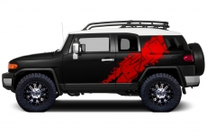 Toyota FJ Cruiser 2007-2014 Custom Half Side Decal Truck Wrap - FJ LOGO