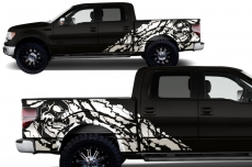 Ford F-150 2009-2014 Custom Half Side Decal Truck Wrap - NIGHTMARE