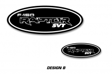 Ford F-150 RAPTOR SVT Colored Oval Emblem Overlay Decals (2009-2016)
