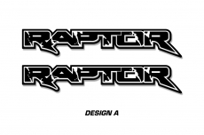 "RAPTOR Truck Bed Graphic Decal Sticker Set For Ford F150 Raptor 48""x8.5"""