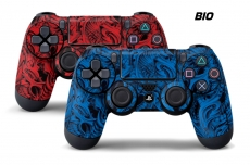 Dual Sony PS4 PlayStation 4 Dualshock Controller Skin 2 PACK