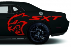 Custom Vinyl Decal HELLCAT SXT Wrap Kit for Dodge Challenger 2015-2016