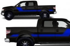Ford F-150 Truck 2009-2014 Solid Rally Stripe Custom Vinyl Decal