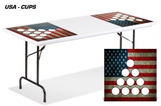 Universal Chess, Checkers, Beer Pong Game Mats For Folding Tables