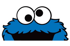 Cookie Monster Peeper Bomber Sticker Decal