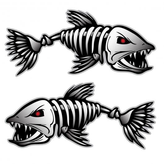 Bonefish Sticker Decal Vinyl Bones Skeleton Kayak Fishing