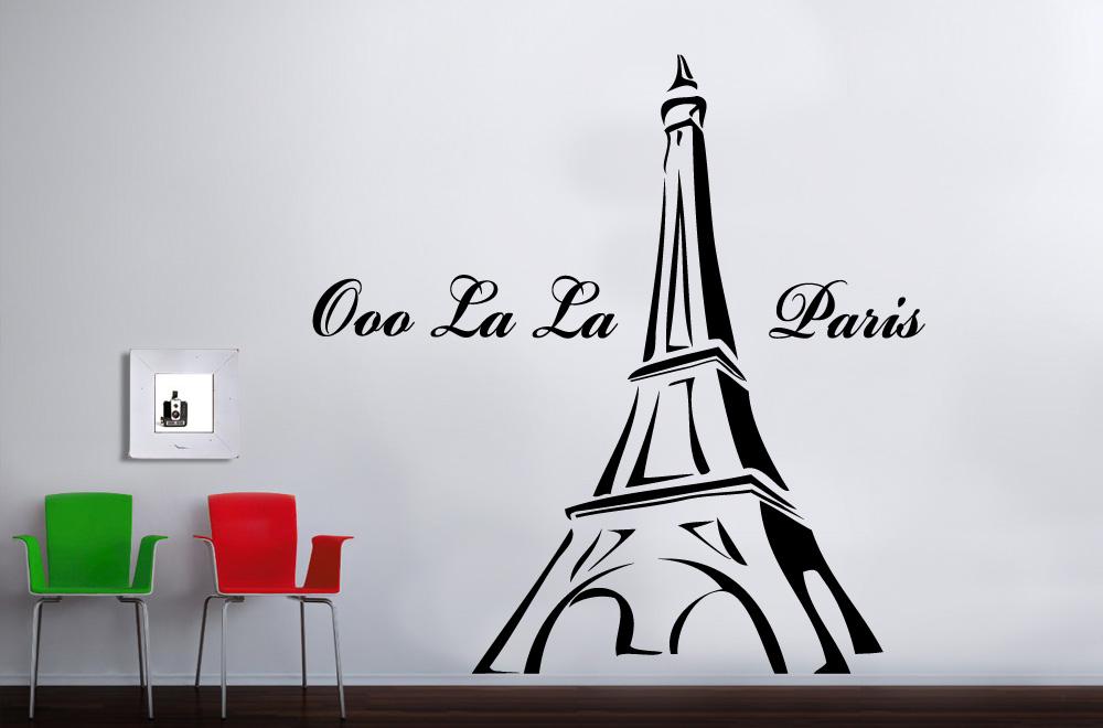 Paris France Eiffel Tower Vinyl Bedroom Wall Art