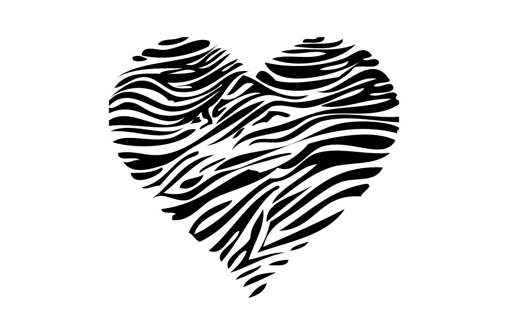 Animal Print Hearts Bedroom Text Vinyl Bedroom Wall Art