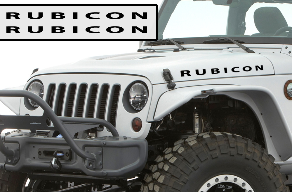 Rubicon Hood Decal Vinyl Cj7 Fj Willys Jeep Wrangler